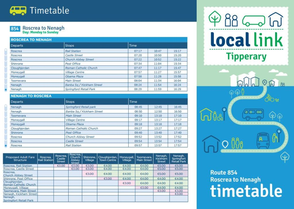 854 Timetable